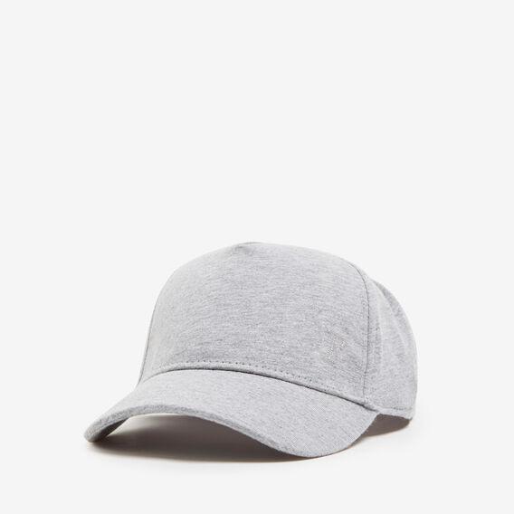 SIMPLE JERSEY CAP  GREY MARLE  hi-res