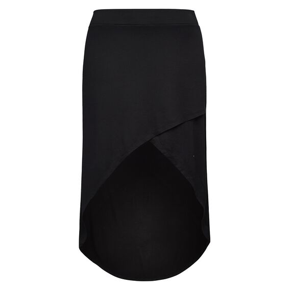 CROSS OVER SKIRT  BLACK  hi-res