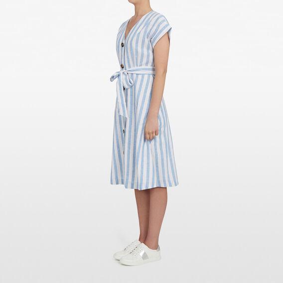 SEABREEZE STRIPE DRESS  SEA BLUE/SUMMER WHIT  hi-res