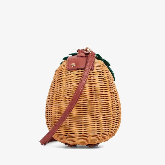 PINEAPPLE WICKER BAG  NATURAL/MULTI  hi-res