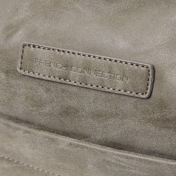 LEATHER LOOK DUFFLE BAG  VINTAGE GREY  hi-res