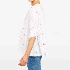 CHERRY PRINTED SHIRT  SUMMER WHITE/RED  hi-res