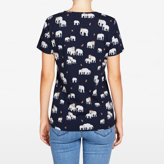 ELEPHANT PRINTED TEE  NOCTURNAL MULTI  hi-res