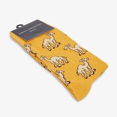 CAMEL 1PK SOCKS  WASHED GOLD  hi-res