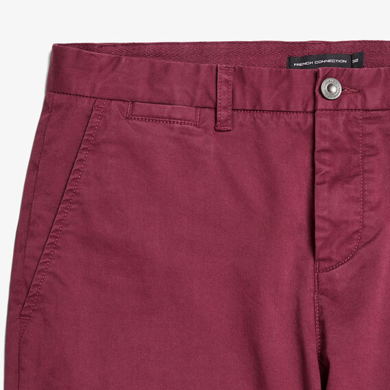 SLIM FIT STRETCH CHINO PANT  BURGUNDY  hi-res