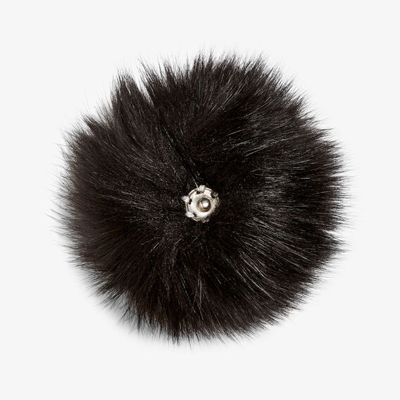 REMOVEABLE POM POM  BLACK  hi-res