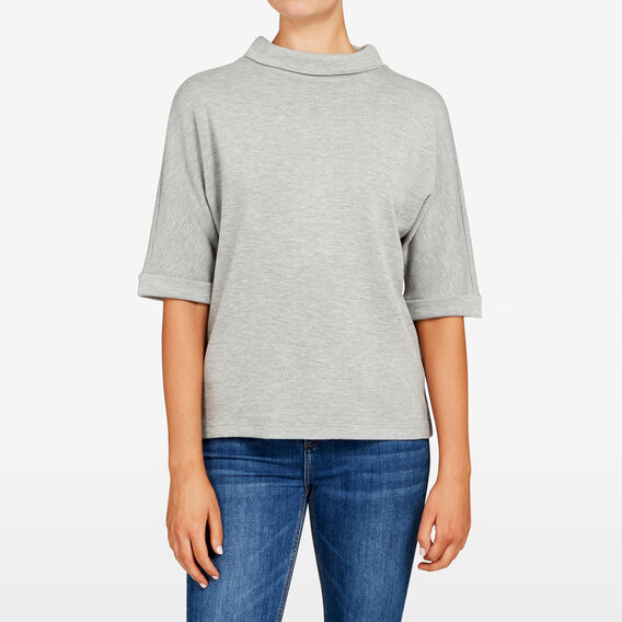 SLOUCHY SWEAT  GREY MARLE  hi-res