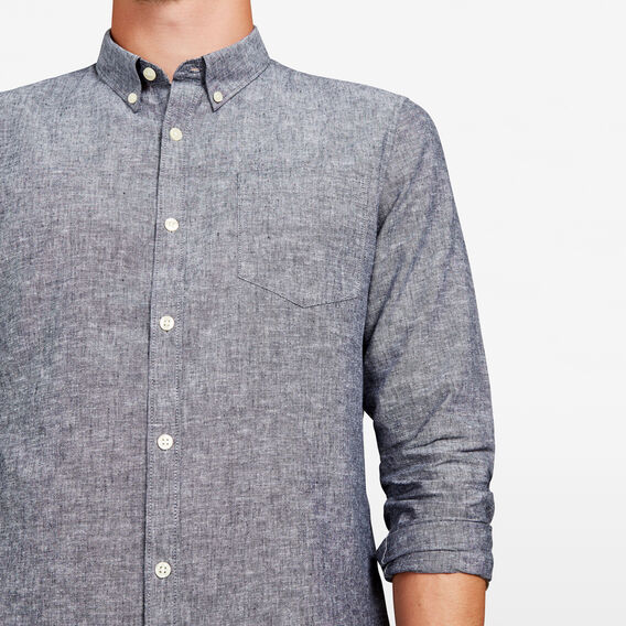 COUNTRY LINEN BLEND REGULAR FIT SHIRT  CHARCOAL  hi-res