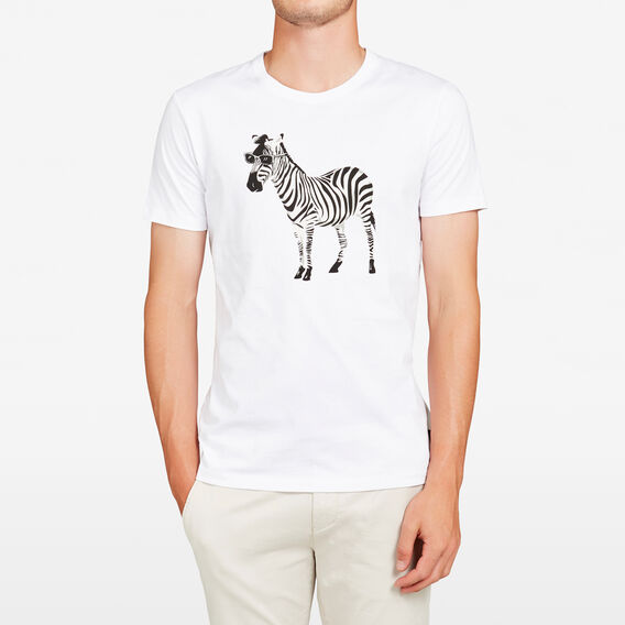 ZEBRA CREW NECK T-SHIRT  WHITE  hi-res