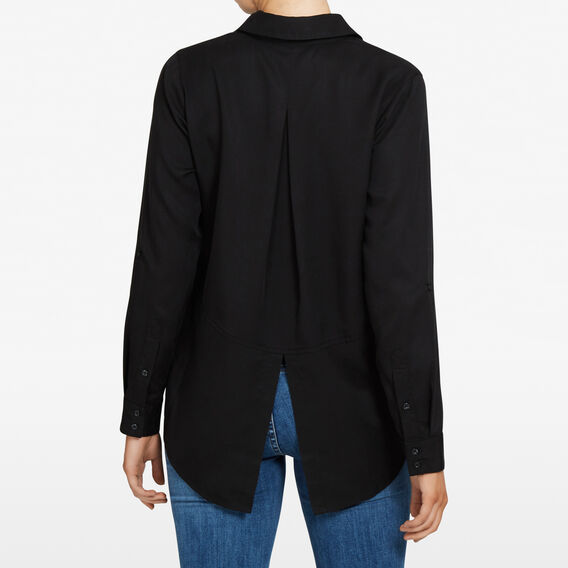 ESSENTIAL BUTTON THROUGH SHIRT  BLACK  hi-res