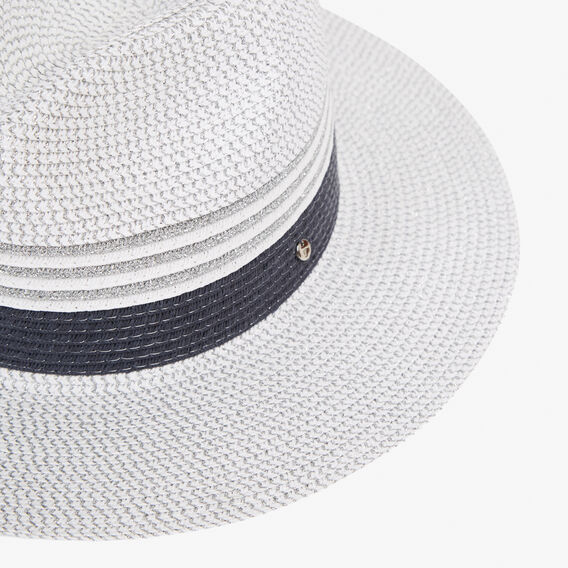 TONAL COLOUR BLOCK FEDORA  SUMMER WHITE/NAVY/SI  hi-res