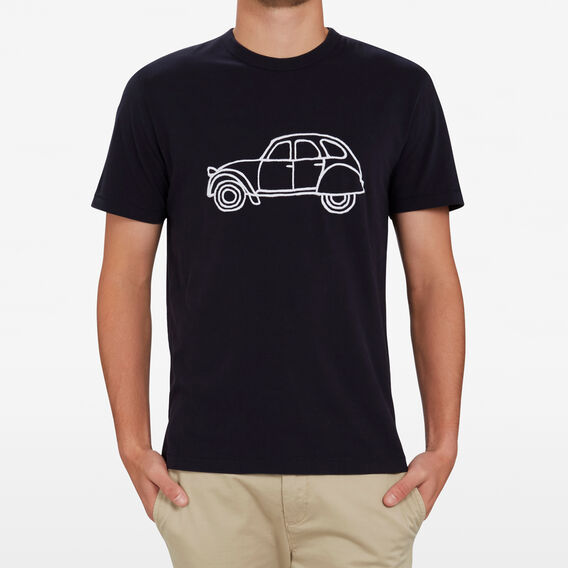 FRENCH CAR T-SHIRT  UTILITY BLUE  hi-res