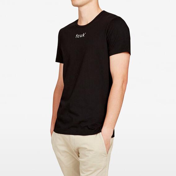 ORIGINAL FCUK LOGO CREW NECK T-SHIRT  BLACK  hi-res