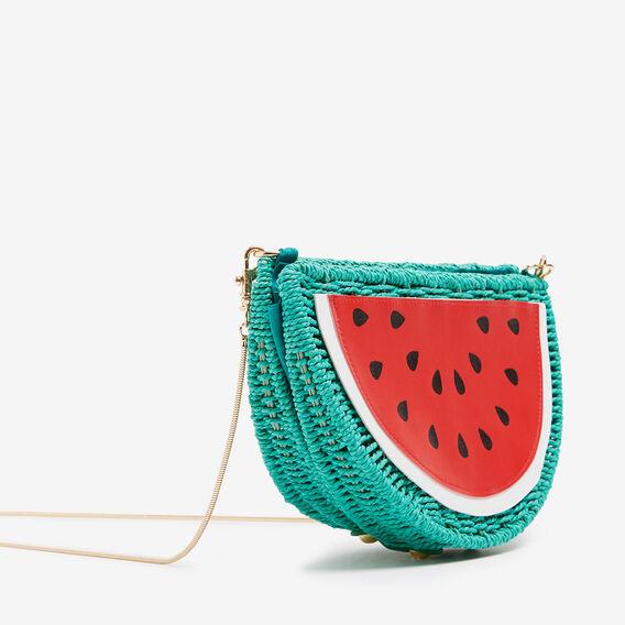 WATERMELON WICKER BAG  RED/MULTI  hi-res
