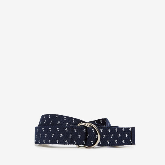 OFF SHORE PRINTED D-RING BELT  MARINE BLUE  hi-res