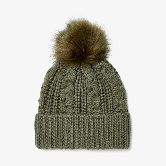 CABLE KNIT BEANIE  KHAKI  hi-res