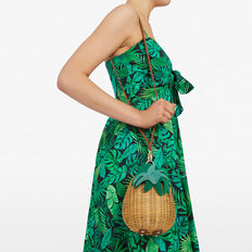 PINEAPPLE WICKER BAG  NATURAL/MULTI  hi-res