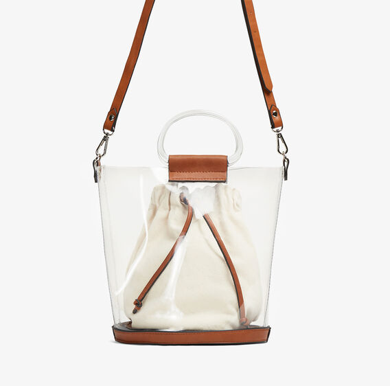 CLEAR BUCKET BAG  NATURAL/BROWN  hi-res