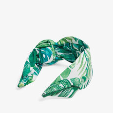 LEAF PRINTED HEADBAND  MULTI  hi-res