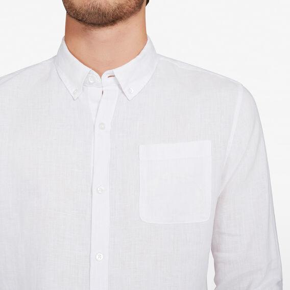 LINEN CLASSIC FIT SHIRT  WHITE  hi-res