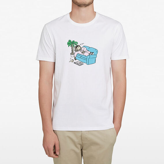 LOUNGIN' MONKEY T-SHIRT  WHITE  hi-res