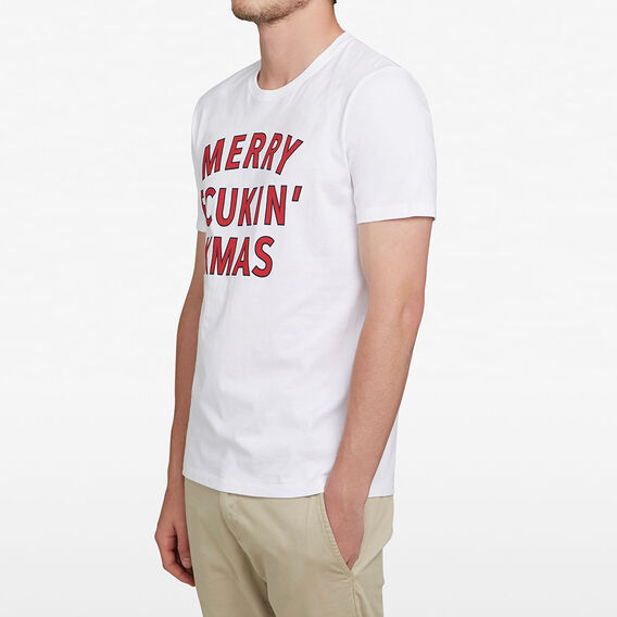 MERRY FCUKIN' XMAS T-SHIRT  WHITE  hi-res