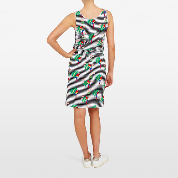 PARROT STRIPE JERSEY DRESS  SUMMER WHITE/MULTI  hi-res