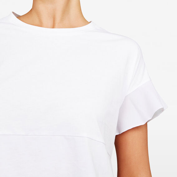 TIERED PEPLUM TEE  SUMMER WHITE  hi-res
