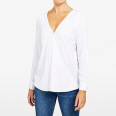 WRAP POPOVER SHIRT  SUMMER WHITE  hi-res