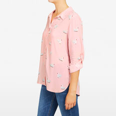 SWAN PRINTED SHIRT  BLUSH/MULTI  hi-res