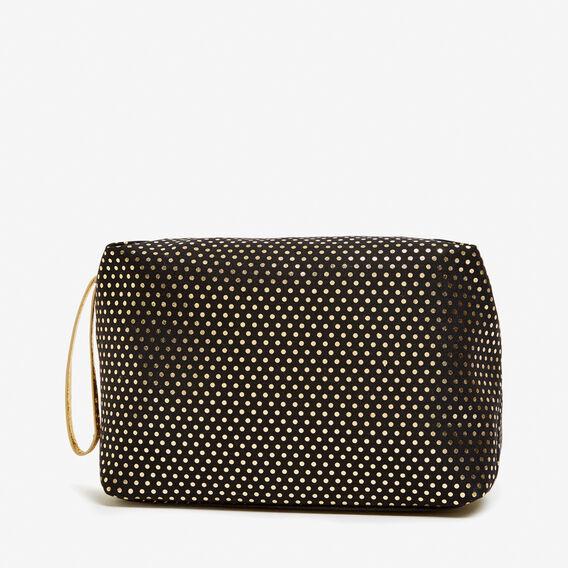 SPOT COSMETIC BAG  BLACK/GOLD  hi-res