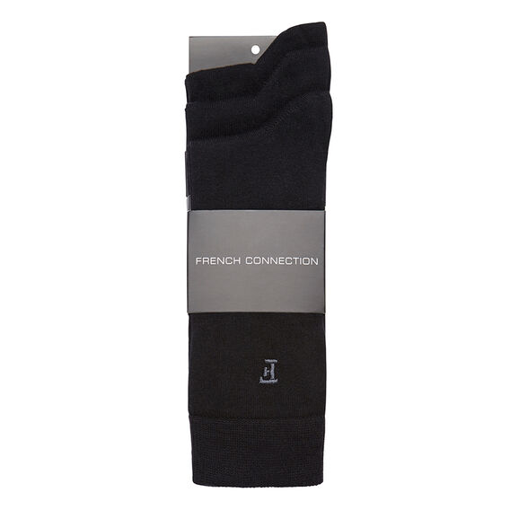BLACK 3 PK SOCKS  BLACK  hi-res