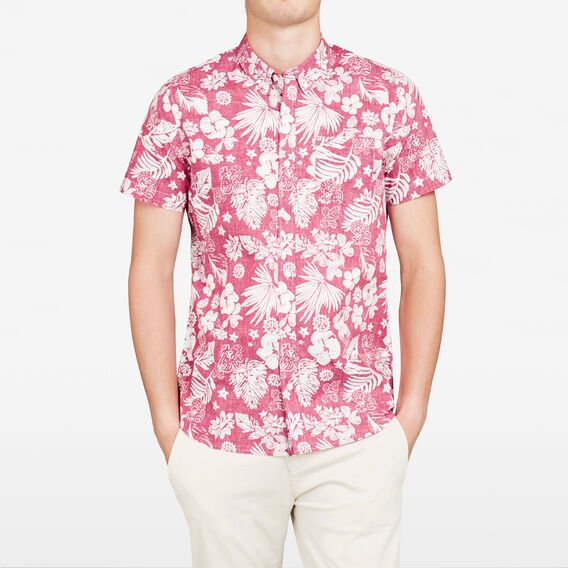 AMALFI RED FORAL SLIM FIT SHIRT  AMALFI RED  hi-res