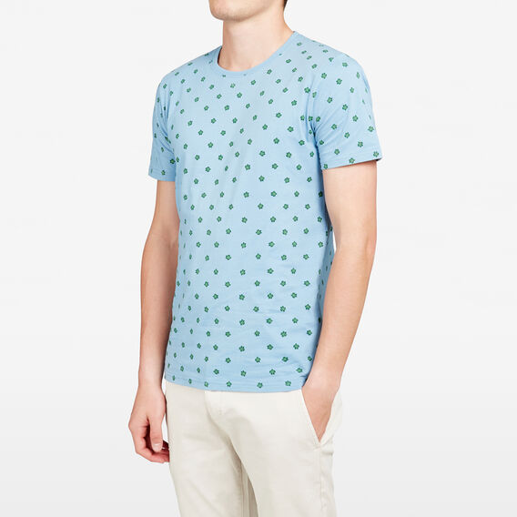 TURTLE ALL OVER CREW NECK T-SHIRT  SKY BLUE  hi-res