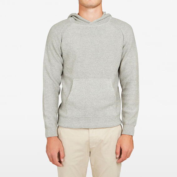 POP OVER KNITTED HOODIE  GREY MARLE  hi-res