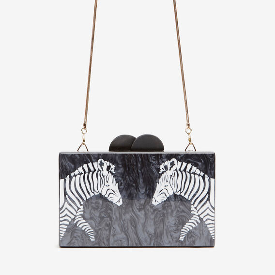 ZEBRA CLUTCH  BLACK  hi-res