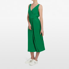 V-NECK MAXI DRESS  LEAF GREEN  hi-res