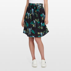 PARADISE PRINT MIDI SKIRT  BLACK/MULTI  hi-res