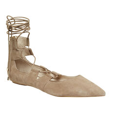 WRAPPED ANKLE FLAT  TAUPE  hi-res