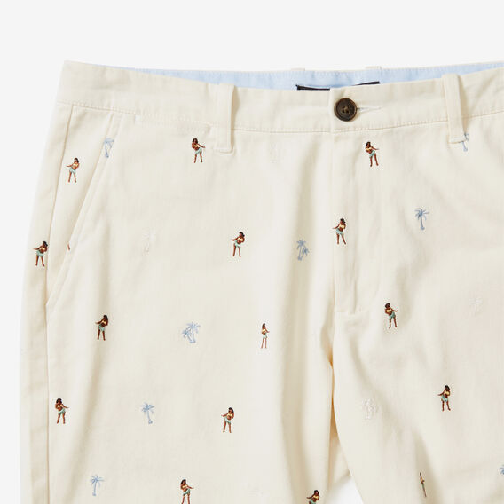HULA GIRL EMBROIDERED SHORT  STONE  hi-res
