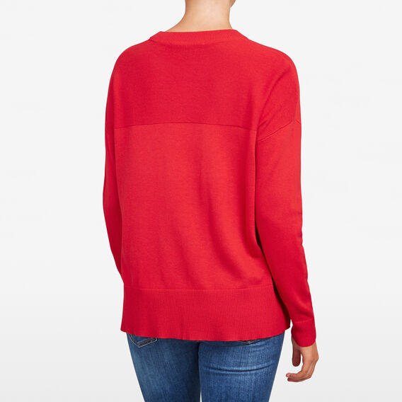 SLOUCHY POCKET KNIT  RED  hi-res