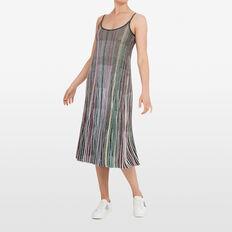LUREX STRIPE DRESS  MULTI  hi-res