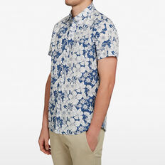 FLORAL CLASSIC FIT SHIRT  BLUE  hi-res