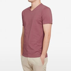 CLASSIC V NECK T-SHIRT  BERRY  hi-res
