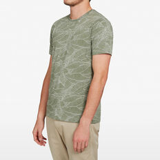 PALM LEAF T-SHIRT  OLIVE  hi-res