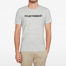 FCUK THIS SHIT T-SHIRT  GREY MARL SPECKLE  hi-res