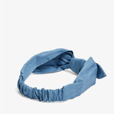 CHAMBRAY KNOT HEADBAND  CHAMBRAY  hi-res