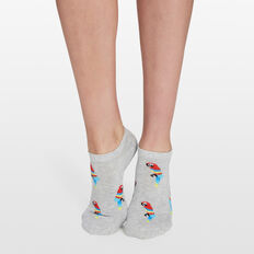 PARROT ANKLE SOCKS  GREY MULTI  hi-res