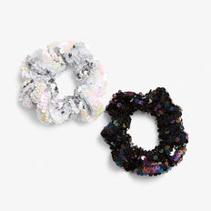 SEQUIN SPARKLE SCRUNCHIE SET  MULTI  hi-res