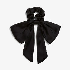 HAIR BOW SCRUNCHIE  BLACK  hi-res